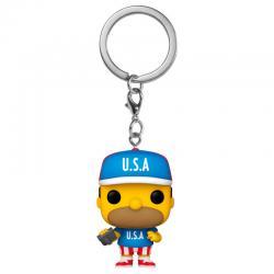 Llavero Pocket POP Simpsons USA Homer - Imagen 1