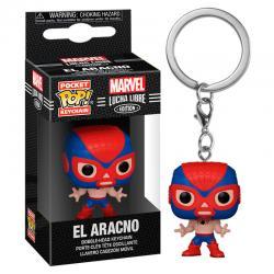 Llavero Pocket POP Marvel Luchadores Spiderman El Aracno - Imagen 1