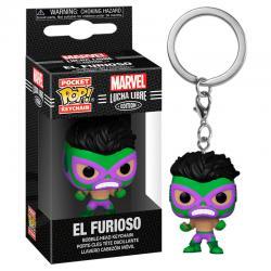 Llavero Pocket POP Marvel Luchadores Hulk El Furioso - Imagen 1