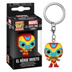 Llavero Pocket POP Marvel Luchadores Iron Man El Heroe Invicto - Imagen 1