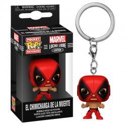 Llavero Pocket POP Marvel Luchadores Deadpool La Chimiganga de la Muerte - Imagen 1