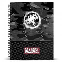 Cuaderno A4 Thor Hammer Marvel - Imagen 1