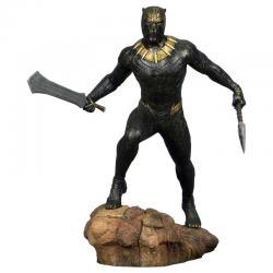 Estatua diorama Killmonger Black Panther Marvel 23cm - Imagen 1