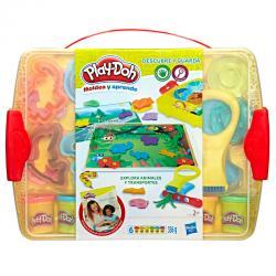 Explora Animales y Transportes Descubre y Guarda Play-Doh - Imagen 1
