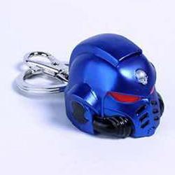 Llavero metal Space Marine Primaris Helmet Ultramarine Warhammer 40K - Imagen 1