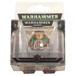 Llavero metal Space Marine MKVII Helmet Gold Warhammer 40K - Imagen 1