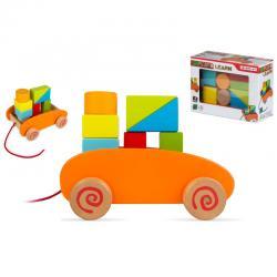Carrito blocks madera 9pzs - Imagen 1