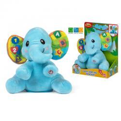 Peluche educativo elefante - Imagen 1
