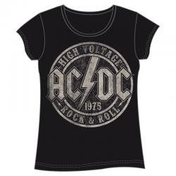 Camiseta High Voltage ACDC adulto mujer - Imagen 1
