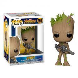 Figura POP Marvel Avengers Infinity War Teen Groot with Gun - Imagen 1