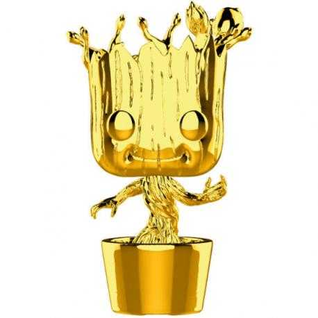 Figura POP Marvel Studios 10 Groot Gold Chrome - Imagen 1