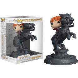 Figura Movie Moments Harry Potter Ron riding chess piece - Imagen 1