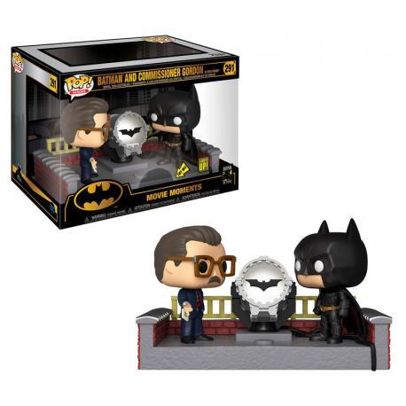 Figura POP DC Comics Batman 80th with Light Up Bat Signal - Imagen 1
