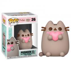 Figura POP Pusheen with Heart - Imagen 1