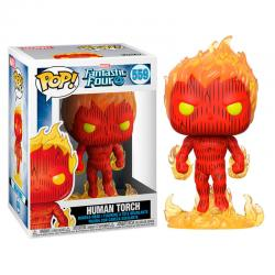 Figura POP Marvel Los 4 Fantasticos Human Torch - Imagen 1