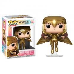 Figura POP DC Wonder Woman 1984 Wonder Woman Gold Flying Pose - Imagen 1