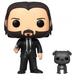 Figura POP John Wick John in Black Suit with Dog - Imagen 1