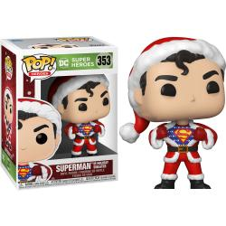 Figura POP DC Holiday Superman with Sweater - Imagen 1