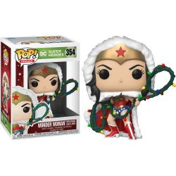 Figura POP DC Holiday Wonder Woman with Lights Lasso - Imagen 1