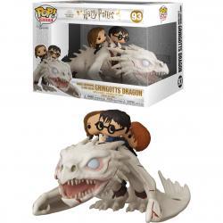 Figura POP Gringotts Dragon con Harry, Ron y Hermione Harry Potter - Imagen 1