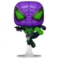 Figura POP Marvel Spiderman Miles Morales Purple Reign Suit Metallic - Imagen 1