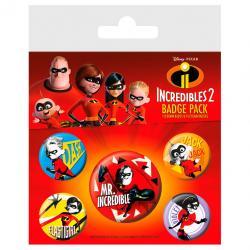 Set chapas Los Increibles Disney - Imagen 1