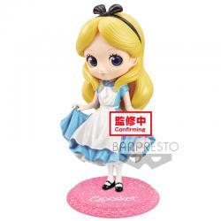 Figura Alice Alicia en el Pais de las Maravillas Disney Glitter Q Posket A 14cm - Imagen 1