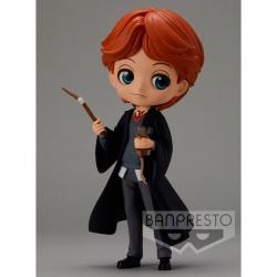 Figura Ron Weasley with Scabbers Harry Potter Q Posket 14cm - Imagen 1