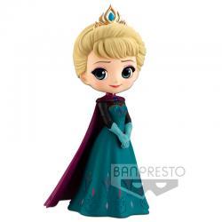Figura Elsa Coronation Style Frozen Disney Characters Q Posket 14cm - Imagen 1