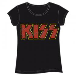 Camiseta Kiss Logo adulto mujer - Imagen 1