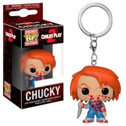 Llavero Pocket POP Horror Chucky Bloody Exclusive - Imagen 1