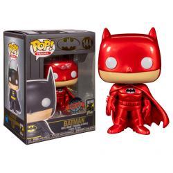 Figura POP DC Comics Batman Red Metallic Exclusive - Imagen 1