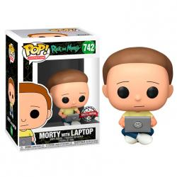 Figura POP Rick and Morty - Morty with Laptop Exclusive - Imagen 1