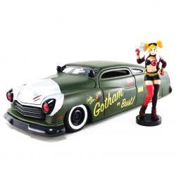 Set figura & coche metal Mercury 1951 Harley Quinn DC Comics - Imagen 1