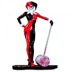 Estatua Harley Quinn Red Black & White DC Comics 18cm - Imagen 1