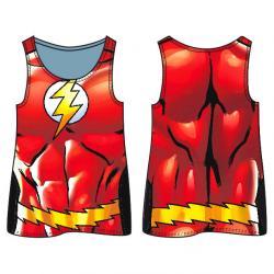 Camiseta agujeros Flash DC Comics adulto - Imagen 1