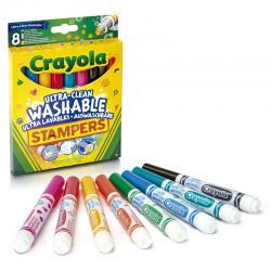 Set 8 Rotuladores Estampadores Ultra Lavables Crayola - Imagen 1