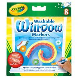 Blister 8 rotuladores para ventana lavables Crayola - Imagen 1