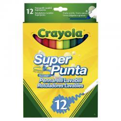Set 12 Rotuladores Super Punta Lavables Crayola - Imagen 1