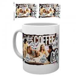 Taza Coffee is Life Friends - Imagen 1