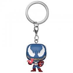 Llavero Pocket POP Marvel Venom Captain America - Imagen 1
