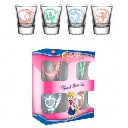 Set 4 vasos chupito Sailor Moon - Imagen 1