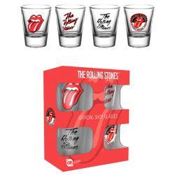 Set 4 vasos chupito The Rolling Stones - Imagen 1