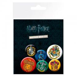 Set chapas Crests Harry Potter - Imagen 1