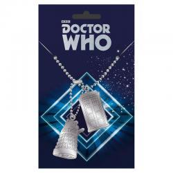 Colgante placas identificacion Tardis and Dalek Doctor Who - Imagen 1