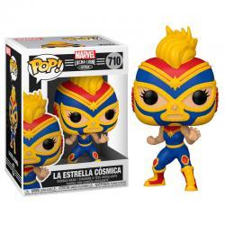 Figura POP Marvel Luchadores Captain Marvel La Estrella Cosmica - Imagen 1