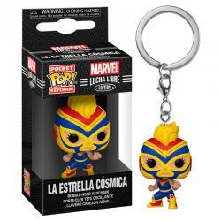 Llavero Pocket POP Marvel Luchadores Captain Marvel La Estrella Cosmica - Imagen 1
