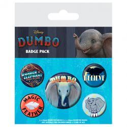 Set 5 chapas Dumbo Disney - Imagen 1