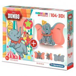 Puzzle 104 + 3D Dumbo Disney 104pzs - Imagen 1