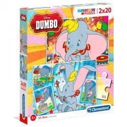 Puzzle Maxi Dumbo Disney 2x20pzs - Imagen 1